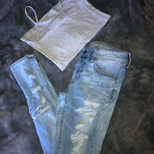 Like new! American Eagle jeans/ top